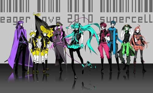 Lily, Luka, Miku, Meiko, and other 初音未来