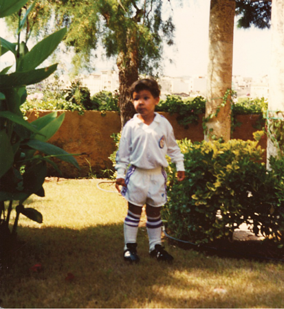 Little Rafa Nadal in Real Madrid uniform (: