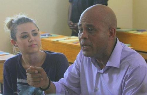 Miley Cyrus ~ 05. October- Opening of a Haitian School