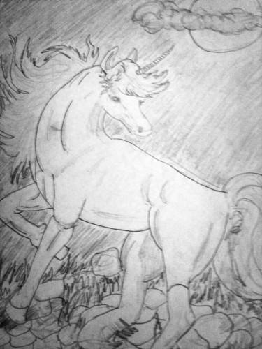 My Original Sketch of a Lunacorn - ___Sophie___