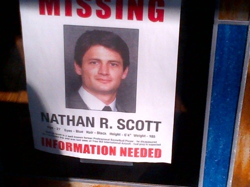 Nathan Scott missing!