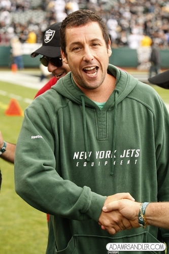 Adam Sandler wallpaper probably with a sweatshirt titled Oakland Raiders v. New York Jets game (Sept. 25)