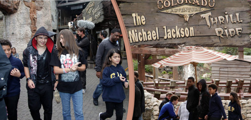 Prince Michael Jackson wallpaper possibly with a chuck wagon and a street titled PPB in Phantasialand