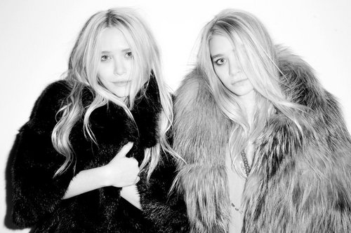 Mary-Kate & Ashley Olsen wallpaper with a fur coat and a mink entitled Photoshoot By Terry Richardson - May 2011