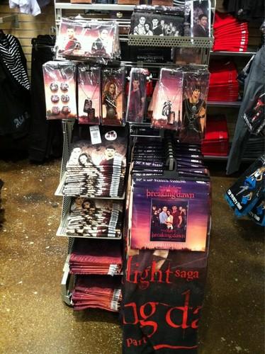 Pictures of Hot Topic's Breaking Dawn Merchandise