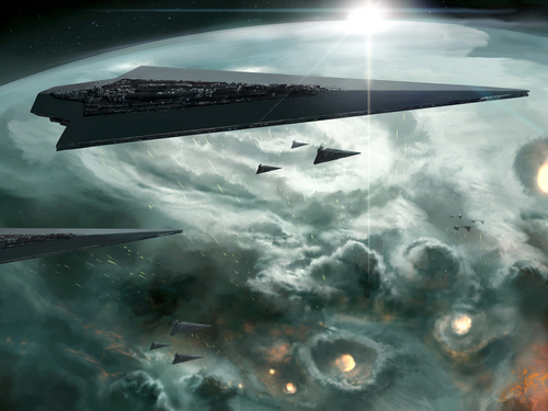 Star Wars wallpaper titled Planetary Bombardment