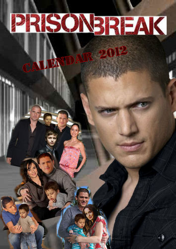 Телевидение Обои probably with a business suit and a portrait entitled Prison Break - calendar 2012