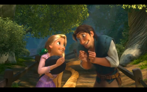 Rapunzel And Flynn Happy Moments