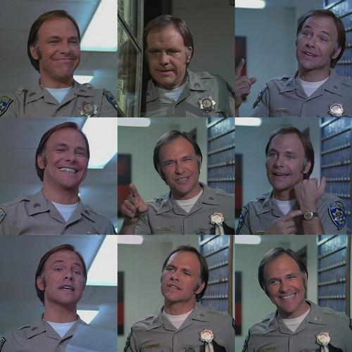 Robert Pine as getraer on CHiPs