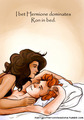 Ron and Hermione in cama