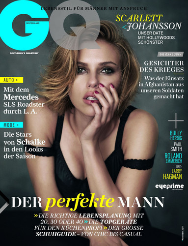 Scarlett Johansson covers German GQ Magazine November 2011 Issue