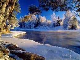 Snow near lake