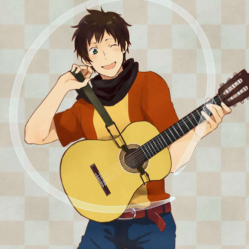Hetalia Spain fond d'écran probably containing an acoustic guitare entitled Spain