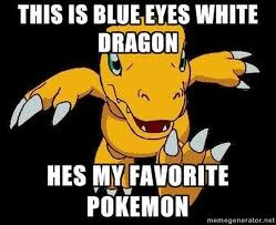 THIS IS BLUE EYES WHITE DRAGON...HE'S MY پسندیدہ POKEMON