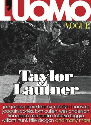 Taylor Lautner on the cover of L'Uomo Vogue Italia