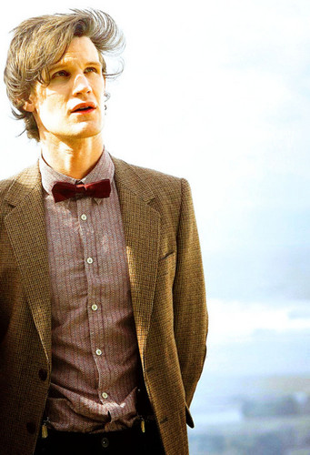 The Eleventh Doctor karatasi la kupamba ukuta probably with a business suit called The Eleventh Doctor♥