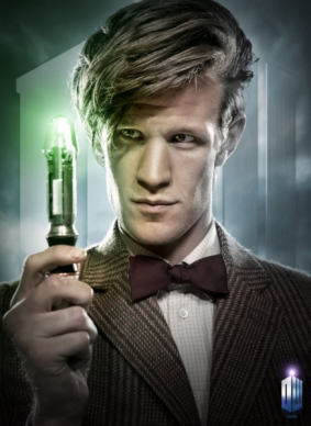 The Eleventh Doctor karatasi la kupamba ukuta entitled The Eleventh Doctor!