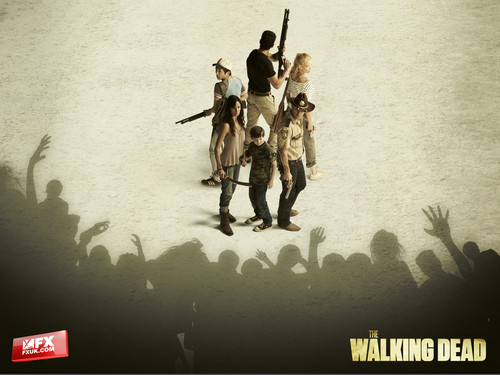 The Walking Dead karatasi la kupamba ukuta probably with a rifleman and anime titled The Walking Dead