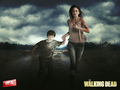 the-walking-dead - Lori & Carl wallpaper