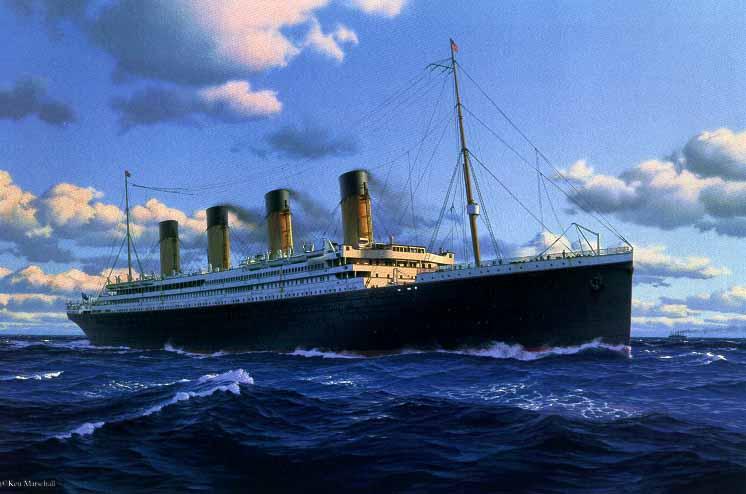 Titanic painting.
