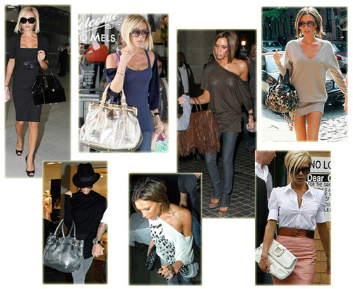 Handbags wallpaper possibly with a sign entitled Victoria Beckham handbags
