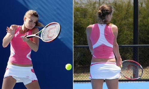 Iveta Benešová in Tennis Tighty Whities