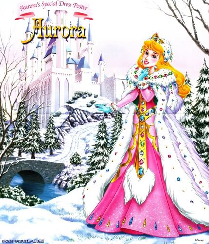 Princess Aurora achtergrond called Winter aurora