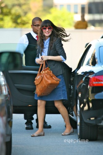 Zooey Deschanel is all smiles while out and about in Hollywood, Oct 7