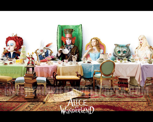 alice dinig - alice-in-wonderland-2010 Wallpaper