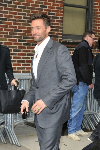 arrives at the Ed Sullivan theater in New York City