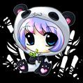 chibi animê panda