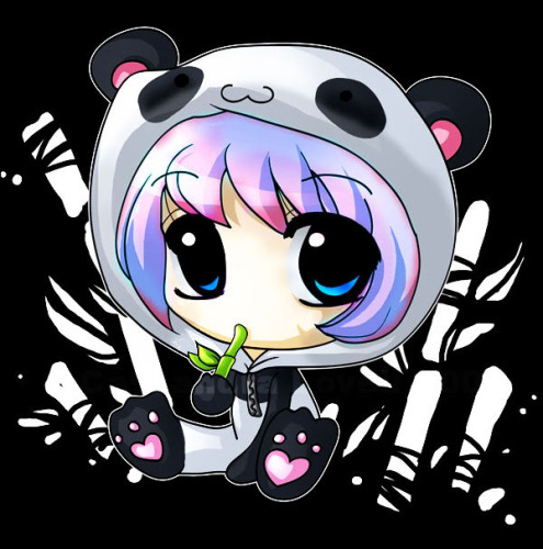 Anime wallpaper entitled chibi anime panda