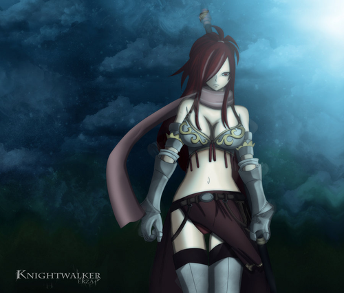 Erza and Lucy Обои called erza