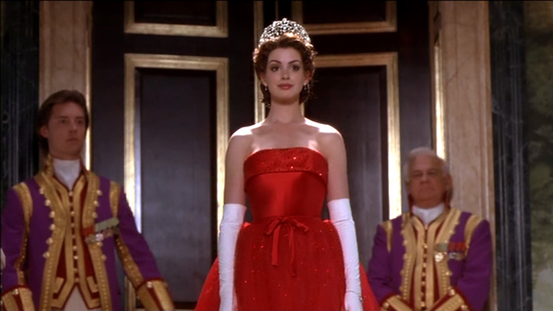 Anne hathaway princess diaries 2 red dress