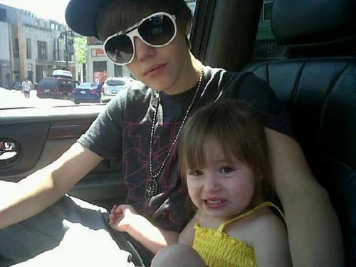 justin and his little sister jazmyn
