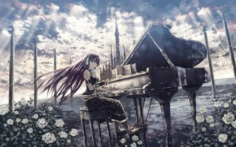 luka playing the piano