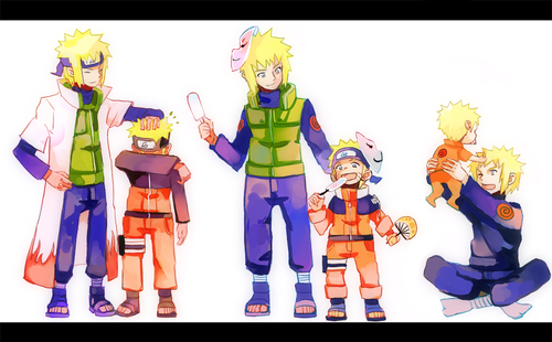 Cuarto Hokage fondo de pantalla probably with anime entitled minato & naruto