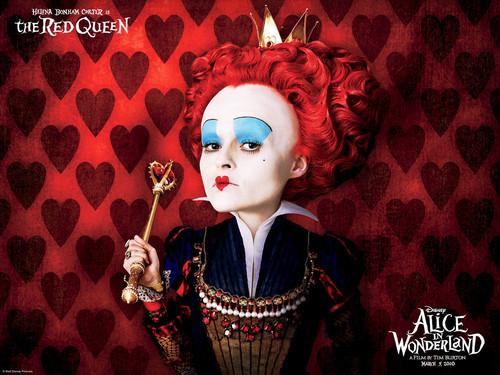 Alice in Wonderland (2010) achtergrond entitled red queen