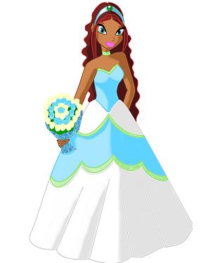 Картинки волшебниц винкс в свадебный платьях и игра одевалка