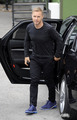Arriving at Fountain Studios 7th October