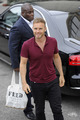 Arriving at Fountain Studios 8th October