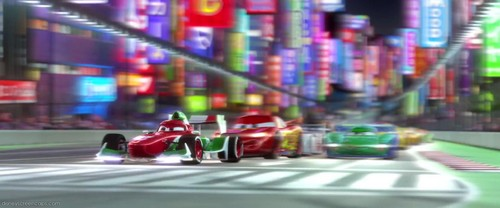 Disney Pixar Cars 2 Hintergrund possibly containing a straße called Cars 2