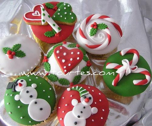 क्रिस्मस कपकेक