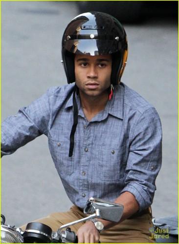 Corbin Bleu: Motorcycle Man!