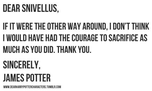Dear Harry Potter Characters