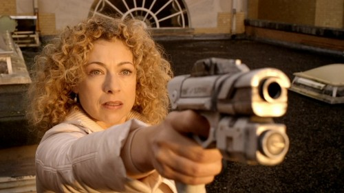 The Doctor and River Song karatasi la kupamba ukuta entitled Doctor/River - 5x13 - The Big Bang