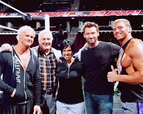 Dolph Ziggler,Pat Patterson,Vickie Guerrero,Hugh Jackman,Zack Ryder