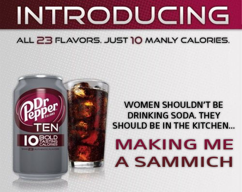Dr Pepper 10 Ad Campaign Feminism Photo