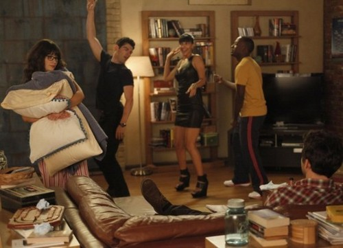 New Girl Hintergrund possibly with a drawing room, a brasserie, and a hip boot entitled Episode 1.05 - Cece Crashes - Promotional Fotos
