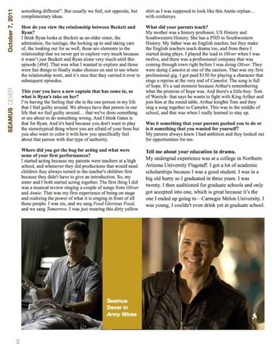 Episode 4.04 - Kick the Ballistics - Stana Katic interviews Seamus Dever